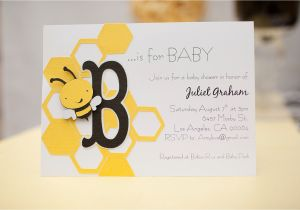 Bee themed Baby Shower Invites Bee themed Baby Shower Invitations