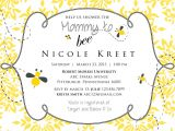 Bee themed Baby Shower Invites Mommy to Bee Baby Shower Invitation Printable