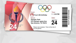 Beer Olympics Party Invitations Olympic Party Ticket Invitation by Redvelvetparties On