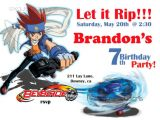 Beyblade Birthday Invitation Template Beyblade Birthday Invitation