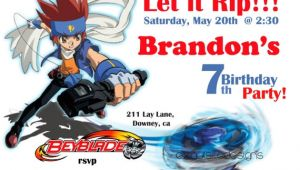 Beyblade Birthday Invitation Template Beyblade Birthday Invitation