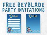 Beyblade Birthday Invitation Template Beyblade Birthday Invitations