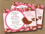 "Bible Verses for Baby Shower Invitations Bird Baby Shower Invitation Baby Girl Diy Printable ""pink"