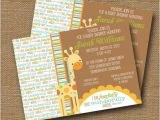 Bible Verses for Baby Shower Invitations Giraffe Baby Shower Invitation Diy Printable Baby Boy