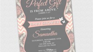 Bible Verses for Baby Shower Invitations James 1 17 Invitation Baby Shower Invitation Bible Verse