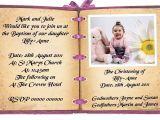 Birthday and Baptismal Invitation Wordings Birthday and Baptism Invitations First Birthday and