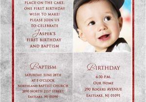 Birthday and Baptismal Invitation Wordings First Birthday Invitation Wordings for Baby Boy Yourweek