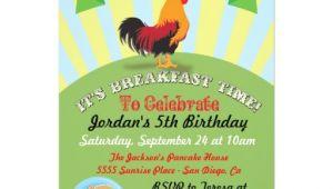 Birthday Breakfast Invitation Template Rise and Shine Breakfast Birthday Party Invitation Zazzle