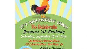 Birthday Breakfast Invitation Wording Personalized Pancakes Invitations Custominvitations4u Com