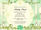 Birthday Brunch Invitations Birthday Brunch Invitations