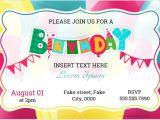 Birthday Invitation Card Template Word Birthday Party Invitation Cards for Ms Word formal Word