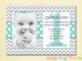 Birthday Invitation Cards for 1 Year Old Boy S Chevrons and Polka Dots Birthday Invitation Gray