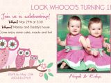 Birthday Invitation Cards for 1 Year Old Twins Twins Birthday Invitations Best Party Ideas