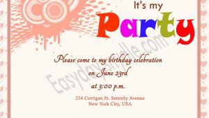 Birthday Invitation Message Birthday Invitation Wording Easyday