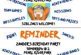 Birthday Invitation Reminder Template Naruto themed Birthday Party