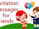Birthday Invitation Sms for Friends Invitation Messages for Friends Examples Of Invitations