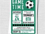 Birthday Invitation soccer Template Custom soccer Birthday Invitation soccer themed Party