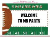 Birthday Invitation soccer Template Free Football Party Printables From by Invitation Only Diy