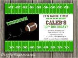 Birthday Invitation soccer Template Printable Football Birthday Invitation Kids Sports