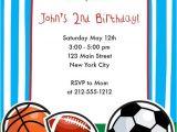Birthday Invitation soccer Template Sports themed Birthday Invitation Sports Birthday Party