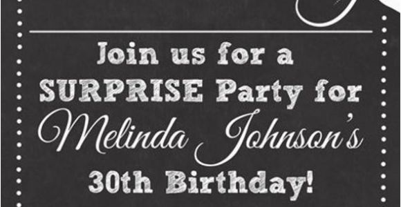 Birthday Invitation Template Adults Chalkboard Look Adult Birthday Party Invitation by