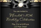 Birthday Invitation Template Black and Gold formal Birthday Invitation Template Birthday Invitation