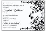 Birthday Invitation Template Black and White 10 Elegant Birthday Invitations Ideas Wording Samples