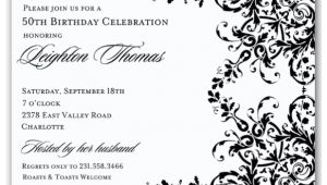 Birthday Invitation Template Black and White 10 Elegant Birthday Invitations Ideas Wording Samples