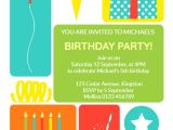 Birthday Invitation Template Child Colorful Childrens Party Birthday Invitation Template