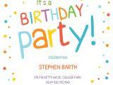Birthday Invitation Template Child Confetti Dots Border Invitacion De Cumpleanos Gratis