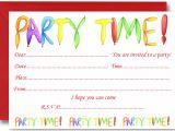 Birthday Invitation Template Child Free Birthday Party Invites for Kids Free Printable