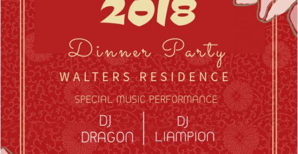 Birthday Invitation Template Chinese Chinese New Year Party Invitation Template Postermywall