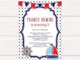 Birthday Invitation Template .docx Tvb022 Polka Dots Nautical Birthday Invitation Diy