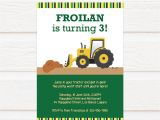 Birthday Invitation Template .docx Tvb173 Tractor Truck Birthday Invitation Diy Printable