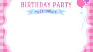 Birthday Invitation Template for Girl Free Girls Birthday Invitation Printables Mama Walker