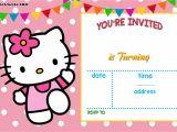 Birthday Invitation Template Hello Kitty Free Hello Kitty Invitation Templates Free Invitation