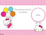 Birthday Invitation Template Hello Kitty Personalized Hello Kitty Birthday Invitations Updated