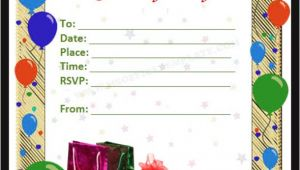 Birthday Invitation Template In Word 5 Images Several Different Birthday Invitation Maker