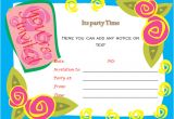 Birthday Invitation Template In Word Birthday Party Invitations Microsoft Word Templates