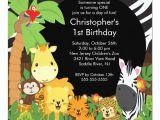Birthday Invitation Template Jungle theme Cute Safari Jungle Birthday Party Invitations Zazzle Com