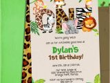 Birthday Invitation Template Jungle theme Jungle 1st Birthday Party Invitation Template Jungle