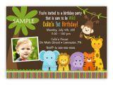Birthday Invitation Template Jungle theme Wild Jungle theme Birthday Party Invitation Boy or Girl You