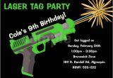 Birthday Invitation Template Laser Tag Laser Tag Birthday Invitation Laser Tag by