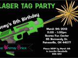 Birthday Invitation Template Laser Tag Laser Tag Birthday Invitation Printable or Printed Laser