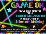 Birthday Invitation Template Laser Tag Laser Tag Birthday Invitations Free Free Invitation