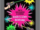 Birthday Invitation Template Laser Tag Laser Tag Girl Birthday Invitation Printable or Printed