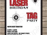 Birthday Invitation Template Laser Tag Laser Tag Party Invitations Birthday Party