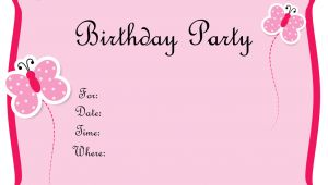 Birthday Invitation Template Maker 5 Images Several Different Birthday Invitation Maker