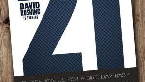 Birthday Invitation Template Man 21st Birthday Party Invitation for Man Male Blue Silver