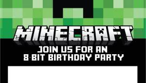 Birthday Invitation Template Minecraft 40th Birthday Ideas Minecraft Birthday Invitation